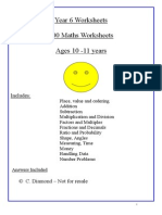 Year 6 Maths Worksheets