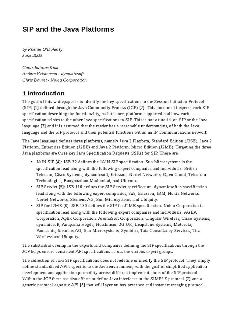 Sip session initiation protocol java servlet baditri Gallery