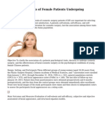 Psychological Traits of Female Patients Undergoing Cosmetic Surgery