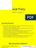 unit 12 - lesson 2 fiscal policy