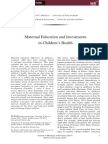 Maternal Education and Investments in Children's Health
