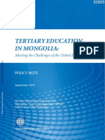 Tertiary Education in Mongolia