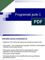 ProgramskiJezikC - I Deo