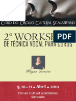 2º Workshop de Técnica Vocal para Coros - cartaz