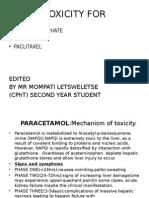 Paracetamol,Ferrous Sulfate and Paclitaxel