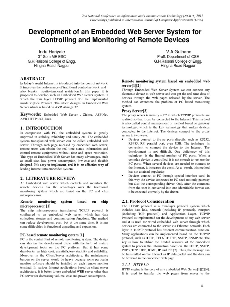 ncict043 | Web Server | Internet Protocol Suite