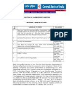 Election of Shareholders Directors