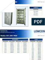 NokiaNSN DX 200 MSC Server MSS Catalogue