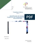 Identificação de Compostos Orgânicos em Compostos Orgânicos Desconhecidos