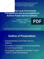 2009 Local Government Transparency & Accountability