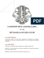 Mt. Kanla-on Leo Club Constitution and By-Laws