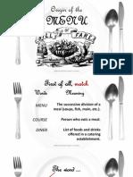 the origin of the menu