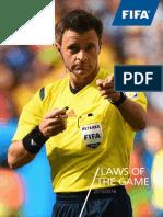 fifa - footbal rules book 2015