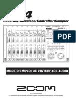 Zoom R24 Mode d'emploi de l'interface audio (French)