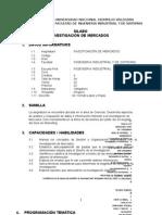Syllabus Investigacion de Mercados Final Ing. Ind.