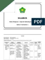 Silabus Sejarah Kebudayaan Islam Kelas 5 Semester 1 Mim Karanganyar 2013 2014