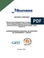 Estudio Tarifario - SUNASS