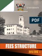 Makerere University Undergraduate Fees Structure 2015/2016