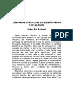 8. Peter Pal Perbart, Literatura e Loucura