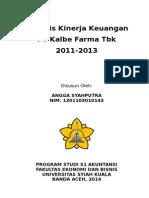 Analisa Laporan Keuangan PT. Kalbe Farma Tbk