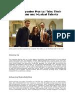 The Carpenter Musical Trio