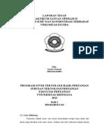 Pengaruh suhu dan konsentrasi terhadap viskositas fluida