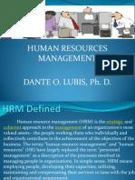 HRM Presentation - Dr. Lubis