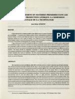 Geneste. 1991. L'Approvisionnement en Matières Premières Dans Les Systèmes de Production Lithique La Dimension Spatiale de La Technologie