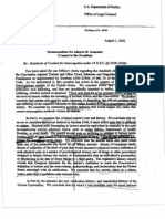 DOJ Torture interrogation memo from Alberto Gonzales to the President