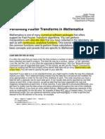 Mathematica Fourier, code for Fourier transform