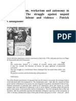 Italian Feminism, Workerism and Autonomy in the 1970s the Struggle Against Unpaid Reproductive Labour and Violence - Patrick Cuninghame
