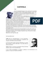 Personajes Históricos de Centroamérica y Su Reseña Histórica