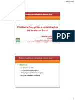 Eficiência Energética Em HIS - Roberto Lamberts Sem. CBCS-CDHU 05-11-09