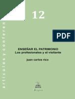 JCR Ensenar El Patrimonio Los Profesionales y El Visitante