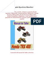 Honda TRX400 Sportrax Rancher Foreman