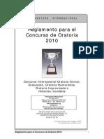 Reglamento Para El Concurso Oratoria 2010