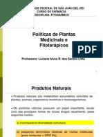 Politicas de Plantas Medicinais e Fitoterapicos