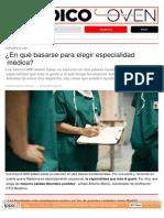 ¿en Qué Basarse Para Elegir Especialidad Médica_ - DiarioMedico.com