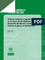 Políticas Tarifarias y Regulatorias en El Marco de Los ODM y El Derecho Humano Al Agua y Al Saneamiento (Lentini y Ferro)