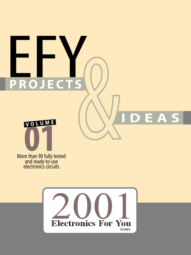 Electronics for You Projects 2001 | Operational Amplifier | Relay