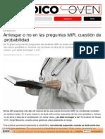 Arriesgar o No en Las Preguntas MIR, Cuestión de Probabilidad - DiarioMedico.com