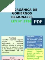 Ley Orgánica de Gobiernos Raegionales