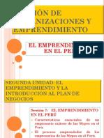 El Emprendimiento en El Perú Sesion 7