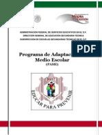 Programa de Adaptación Al Medio Escolar Alumnos