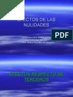 Efectos de Las Nulidades Respecto de Terceros