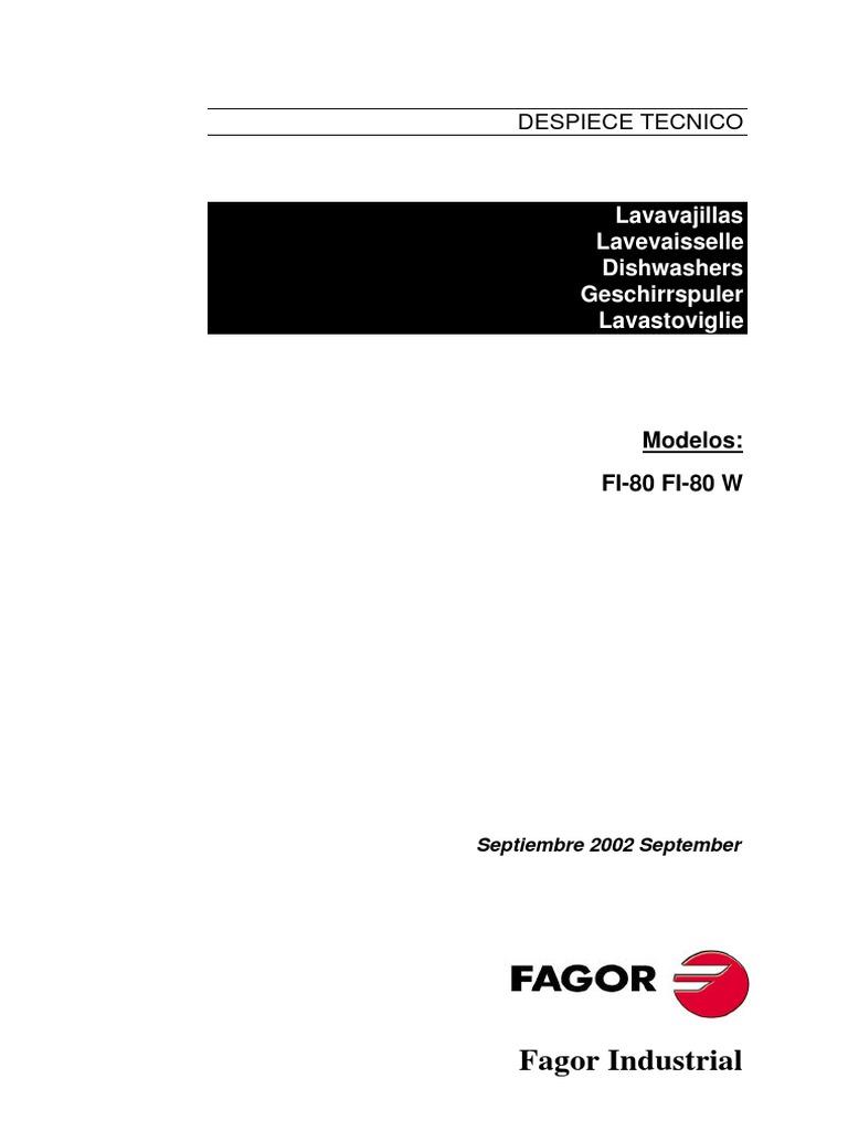 manual de servicio fagor fi-80