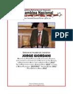 Discurso Jorge Giordani Sobre Proyecto Presupuesto 20121