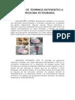 Glosario de Terminos Referentes a La Medicina Veterinaria