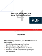 Reporting Aggregated Data Using The Group Functions