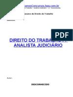 Direito do Trabalho  para analista